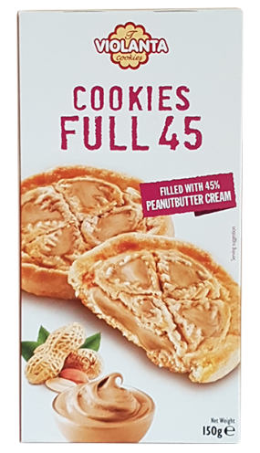 Бисквити FULL 45 с крем от фъстъчено масло 150 гр.