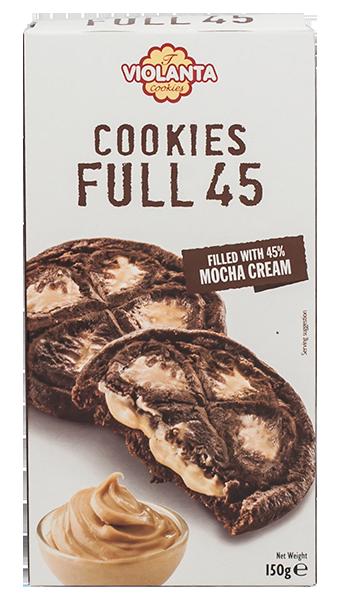 Бисквити FULL 45 с крем мока 150 гр.
