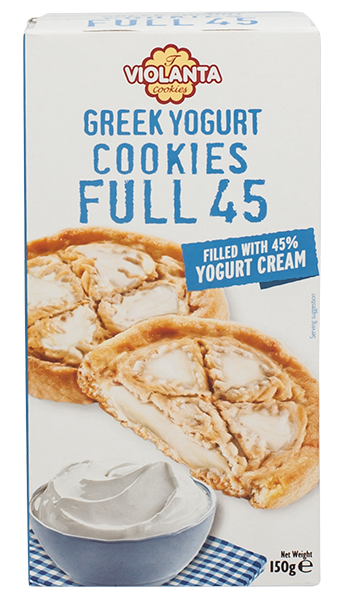 Бисквити FULL 45 с крем от гръцки йогурт 150 гр.