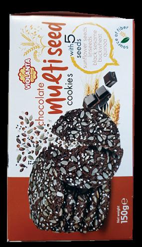 Бисквити Виоланта с 5 семена и тъмен шоколад 150 гр.