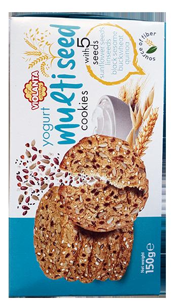 Бисквити Виоланта с 5 семена и йогурт 150 гр.