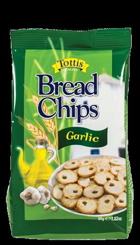 Хлебен чипс Tottis чесън 80 гр.