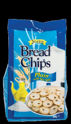 Хлебен чипс Tottis натурал 80 гр.