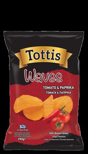 Картофен чипс Тоттис с домати и паприка 250 гр.