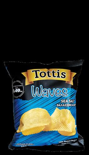 Картофен чипс Тоттис с морска сол 25 гр.