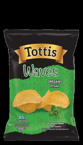 Картофен чипс Тоттис с риган 250 гр.