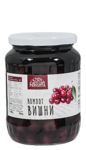"Компот от вишни ""РЕКОЛТА"" 680 гр."