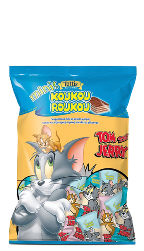 Кoukouroukou Minis Tom&Jerry мини вафли с млечен шоколад 120 гр.