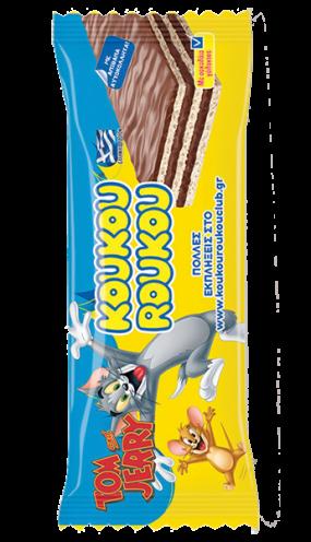 Кoukouroukou Tom&Jerry какаова вафла със стикер 25 гр.