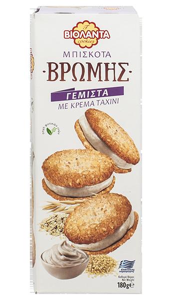 Овесени бисквити с крем от сусамов тахан 180 гр.
