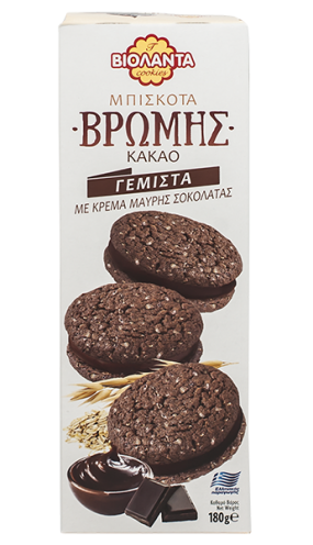 Овесени бисквити с тъмен шоколадов крем 180 гр.