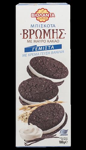 4413 Овесени какаови бисквити с ванилов крем 180 гр.