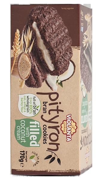 Пълнозърнести бисквити Pityron с кокосов крем 170 гр.