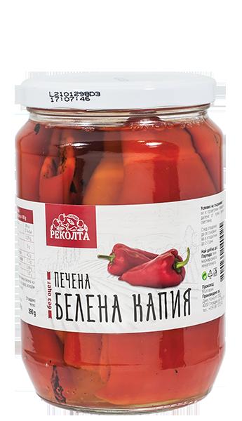 "Печена капия без оцет ""РЕКОЛТА"" 680 гр."
