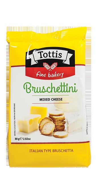 Брускетини Tottis с вкус на пица 80 гр.